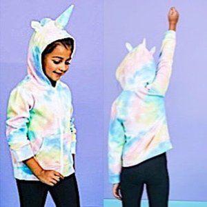 Fabkids Pastel Tie Dye Unicorn Hoodie  🦄